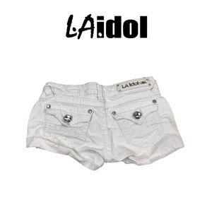 LA Idol White Shorts. Sz S